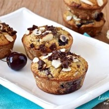 Paleo Dark Chocolate Cherry Almond muffins