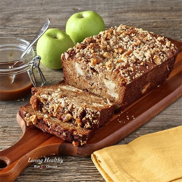 Warm Caramel Apple Pie Bread Paleo Gluten Free Grain Free Dairy