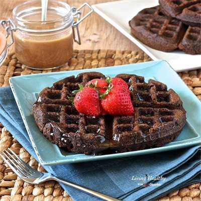 Chocolate Waffles (Paleo, gluten/grain/dairy-free) (+ Cookbook Giveaway!)