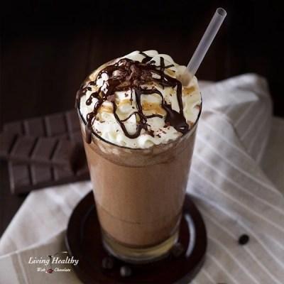 Healthy Homemade Paleo Starbucks Mocha Frappuccino Copycat Recipe (dairy-free, gluten-free, sugar-free)