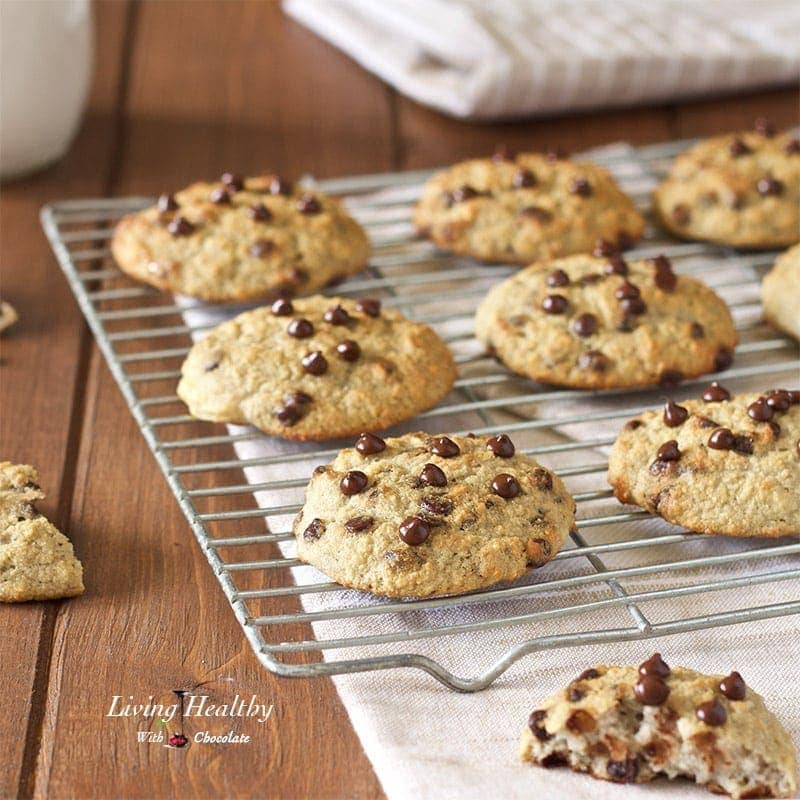 Chocolate Chip Waffle Cookies (gluten-free, nut-free, dairy-free, Paleo) by #LivingHealthyWithChocolate
