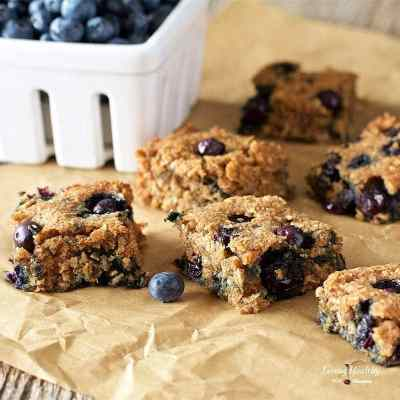Soft-Baked Blueberry Squares (Gluten-free, Paleo)