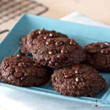 Double Chocolate Chip Cookies (Nut-free, Grain-free, Gluten-free) by #LivingHealthyWithChocolate