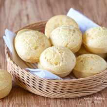 Easy Brazilian Cheese Bread (Pao de Queijo) by Adriana Harlan #LivingHealthyWithChocolate