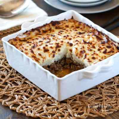 Healthy Shepherd's Pie Recipe (low-carb, paleo, whole30) by #LivingHealthyWithChocolate