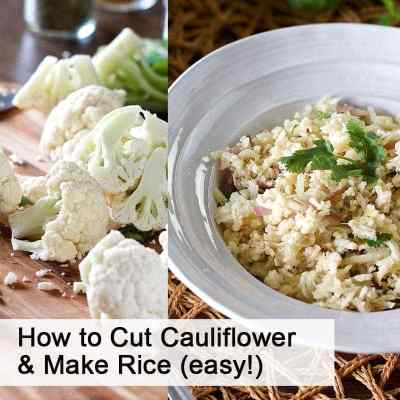 How to cut cauliflower into florets and make cauliflower rice (easy and fast)