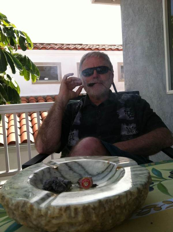 Jim and his madmen era alabaster ashtray sample a smoke on our deck