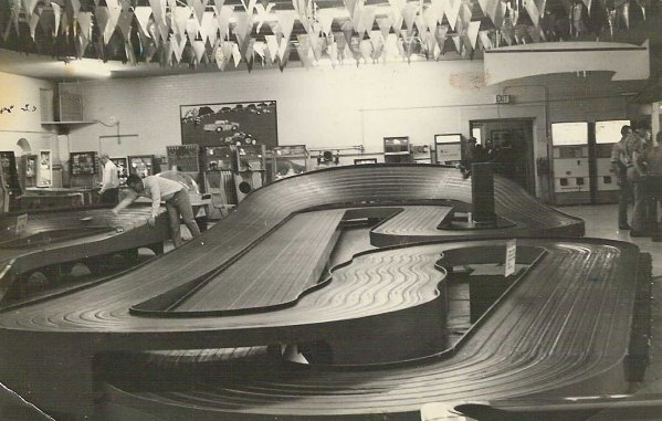 Armed Services YMCA Slot car raceway in Downtown San Diego