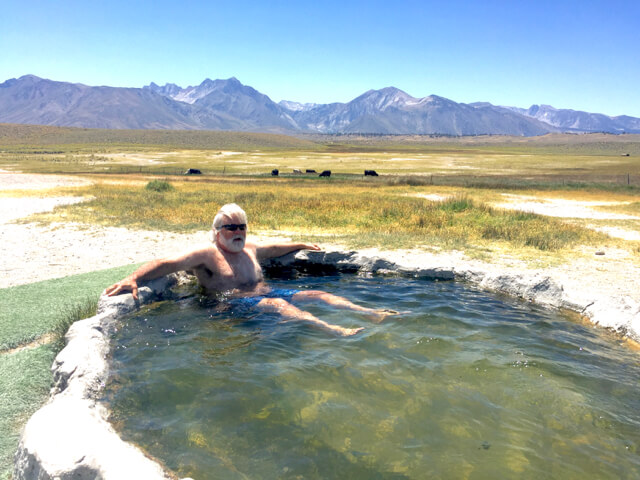 Our secret hot springs in Mammoth. Ask and we will give you directions