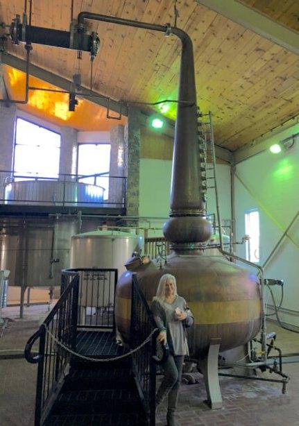 Carmen & the Willett Bourbon copper still