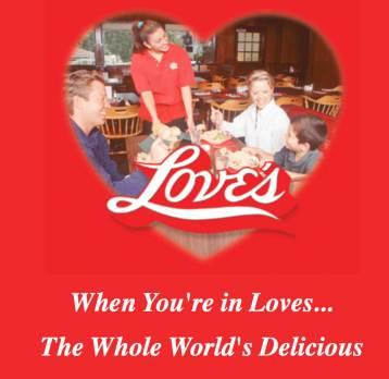 Love's Wood Pit BBQ slogan