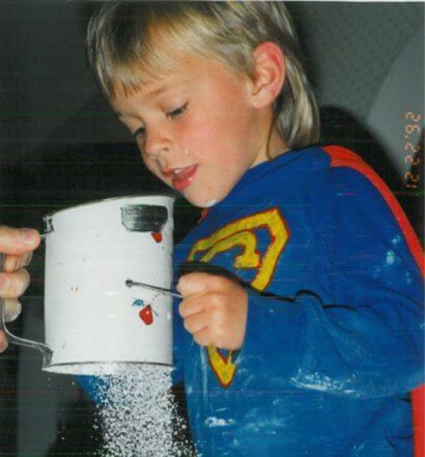 Our son, Chris, Christmas 1992