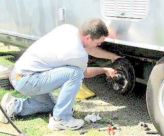 Proactively check and repair brakes, axels, wheels, tires.