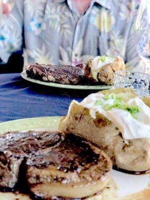 Steak Dinner at Snyder Winery