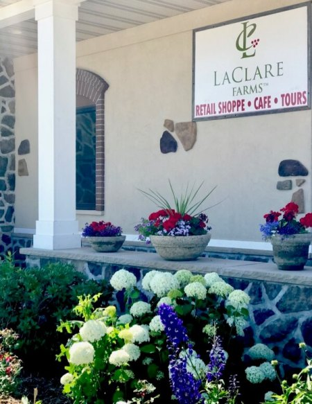 Lovely gardens at LaClare Farms