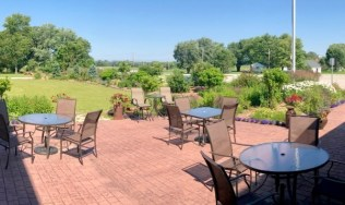Outdoor patio at LaClare Farms