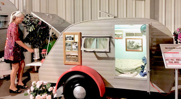 1957 Serro Scotty 10' Tear Drop. Example of the Sportsman trailers by Serro that were designed to be stored in a conventional residential garage.