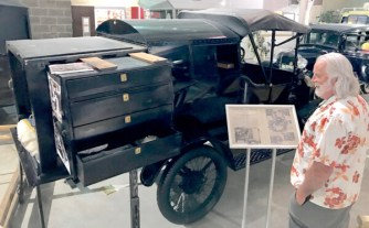 A unique unit built in California on the back of a 1915 Model T Ford roadster.