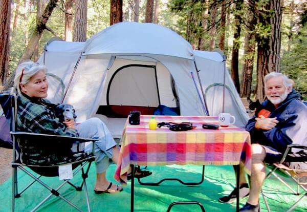 Tent camping in Yosemite - 2010
