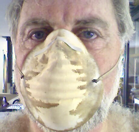 Sanding. Not Jim's favorite job