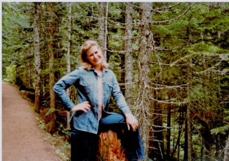 Hiking near Timberline Lodge, Mt Hood, Oregon - 1989