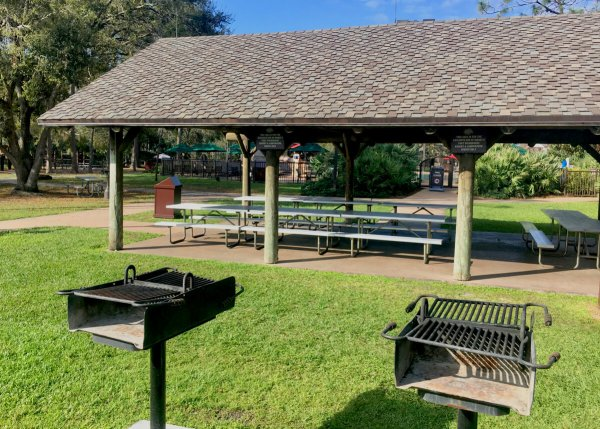 Disney's Fort Wilderness campground picnic shelters