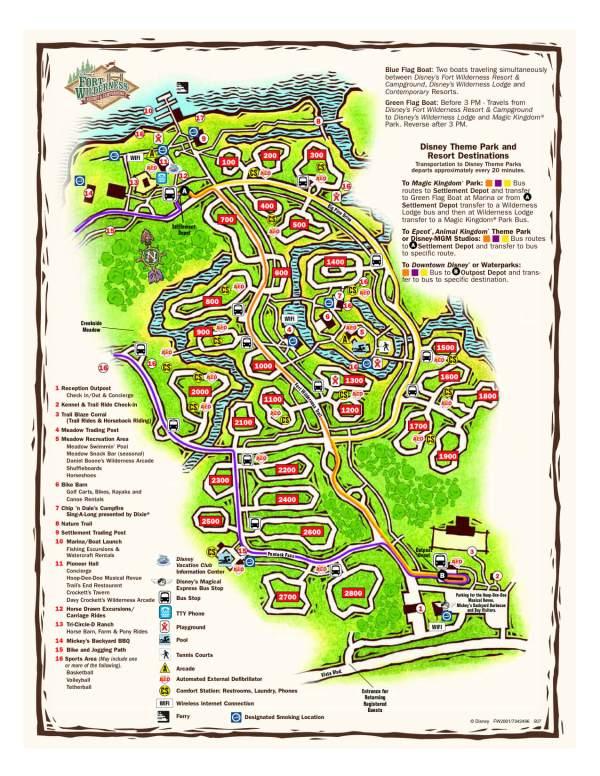 Disney's Fort Wilderness campground map