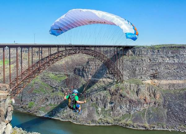 A safe landing below on the Snake River