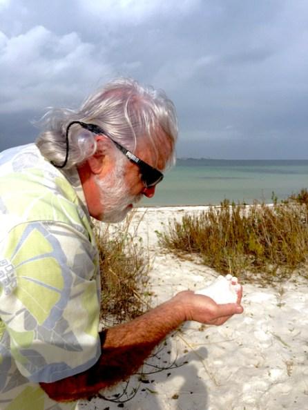 Jim's first view of a Florida beach