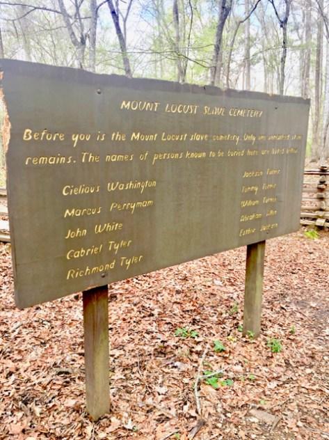 Mount Locust slave cemetery