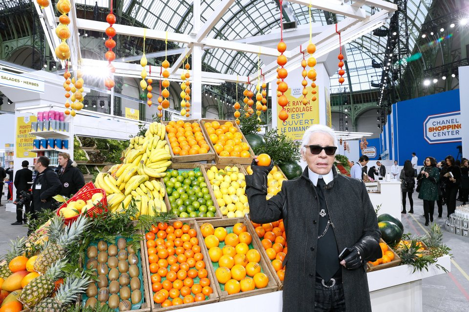 Karl Lagerfeld at Chanel Fall Winter 2014 Ready to Wear Fashion Show / Photography by Bertrand Rindoff Petroff, Getty