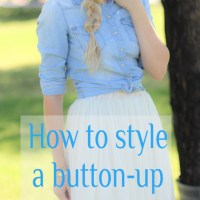 How To Style A Button-Up Blouse