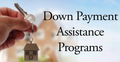 Hand holding a key and keyring with a house fob. Says Down Payment Assistance Programs. Use DPA Down Payment Assistance for the downpayment for your house