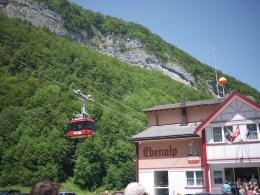 Ebenalp cable car station in Wasserauen