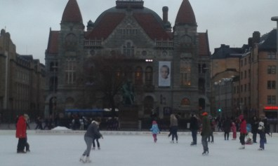 Skating next to National Theatre
