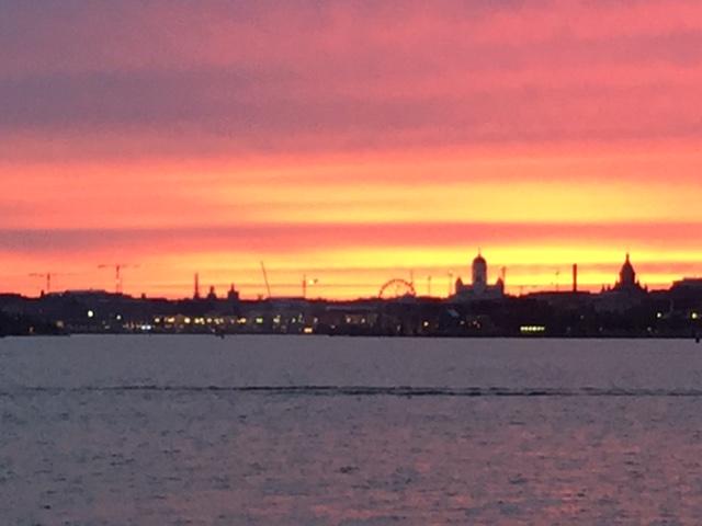 Sunset Helsinki Lonna