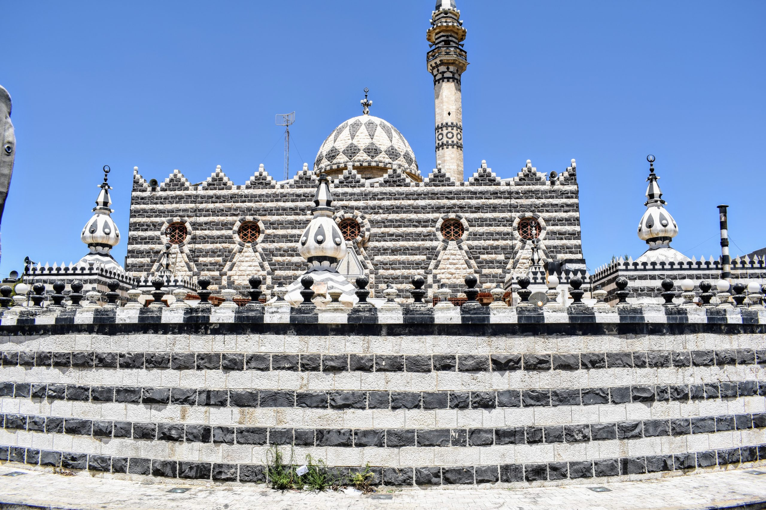 A black and white checkered Mosque in Amman