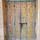 Kasbah of the Udayas - Door in the Andalusian Garden