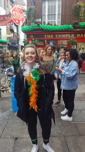 Outside the famous Temple Bar