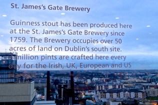 Gravity Bar view over Dublin