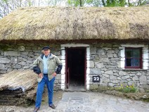 thatched cottage in the folk park