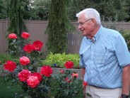 Dad and his roses