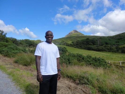 Joe before the climb