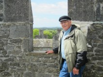 Dad at the top of Bunratty Castle