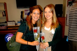 first day of orientation, us newbies received roses