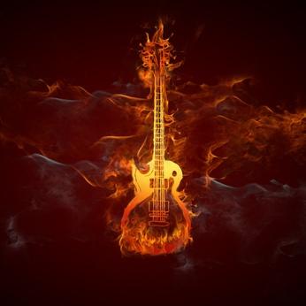 Gitarre Feuer Living in OWL