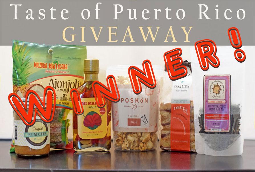 We have a winner! Taste of Puerto Rico Giveaway
