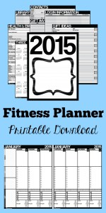 Printable Fitness Planner for tracking fitness and daily life in 2015