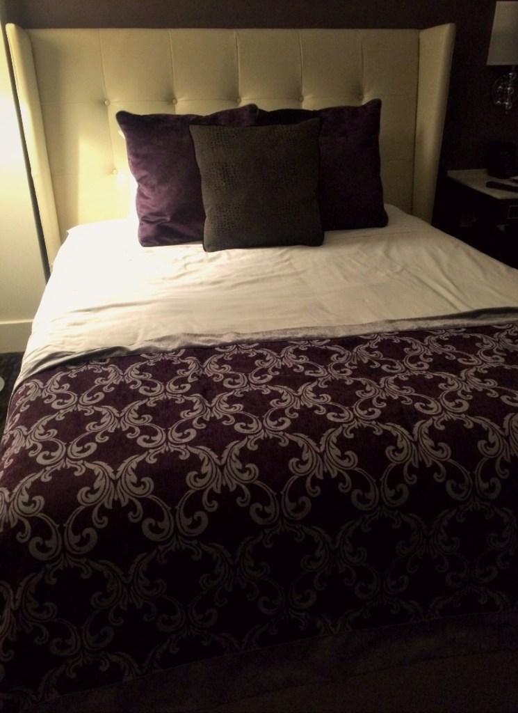 Bed at the Ambassador Hotel