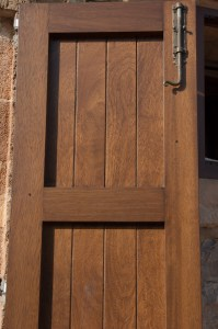 The inner face of one of our smart new front doors.